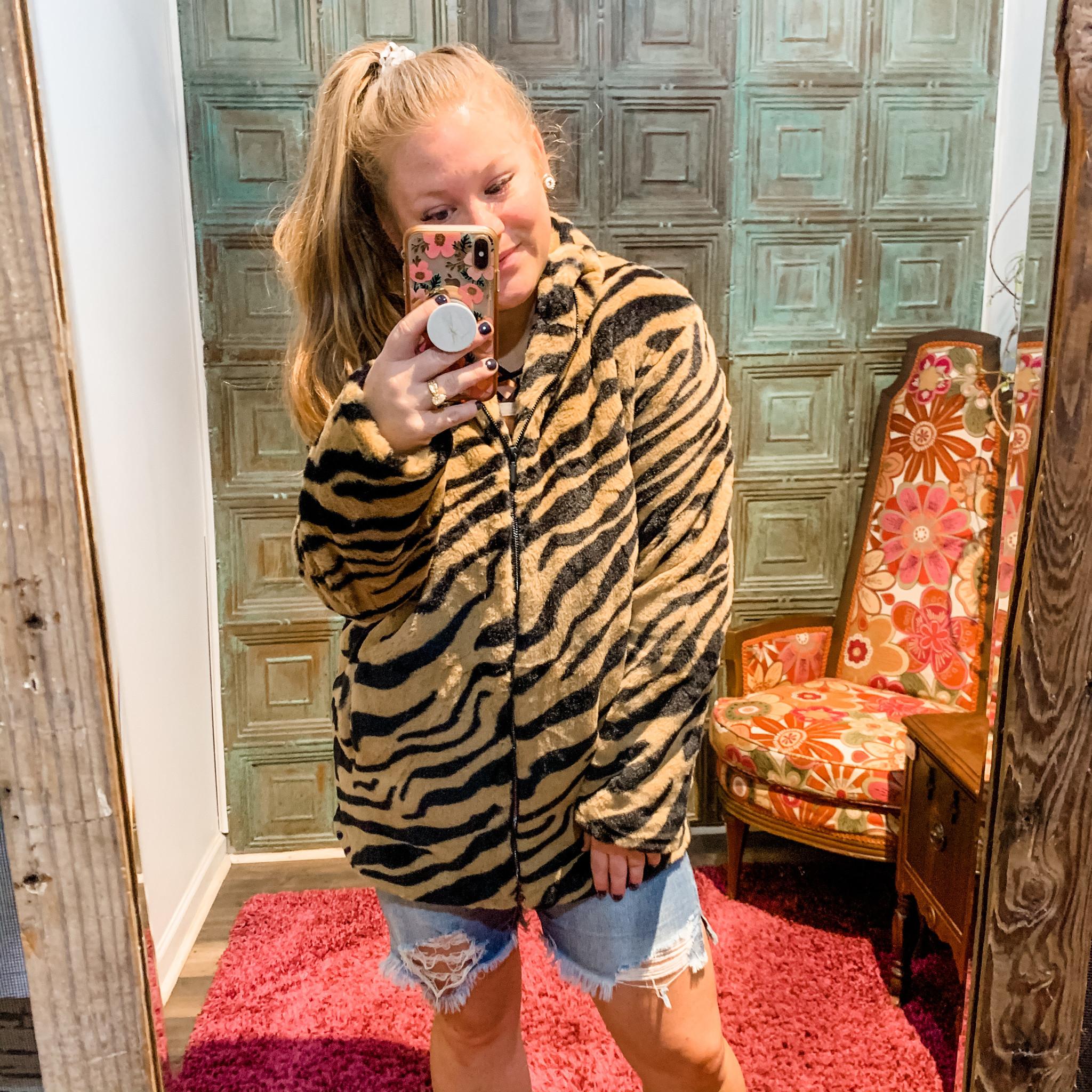 Envy Label Tiger Stripes Coat