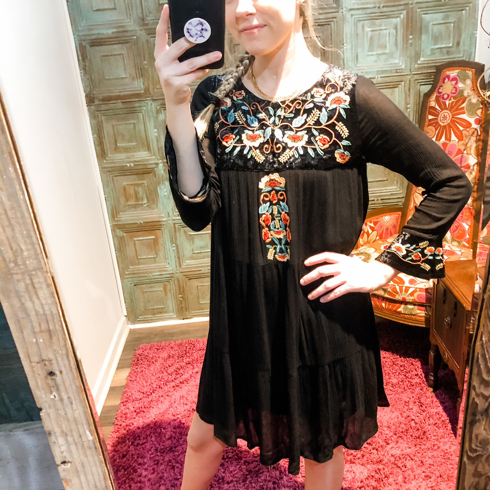 You Had Me At Hello Floral Trim Dress