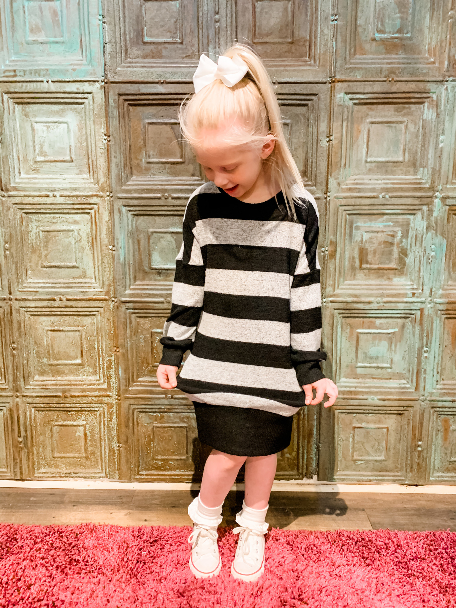 Work It Out With Haddie Mac Sassy Stripe Tween Dress