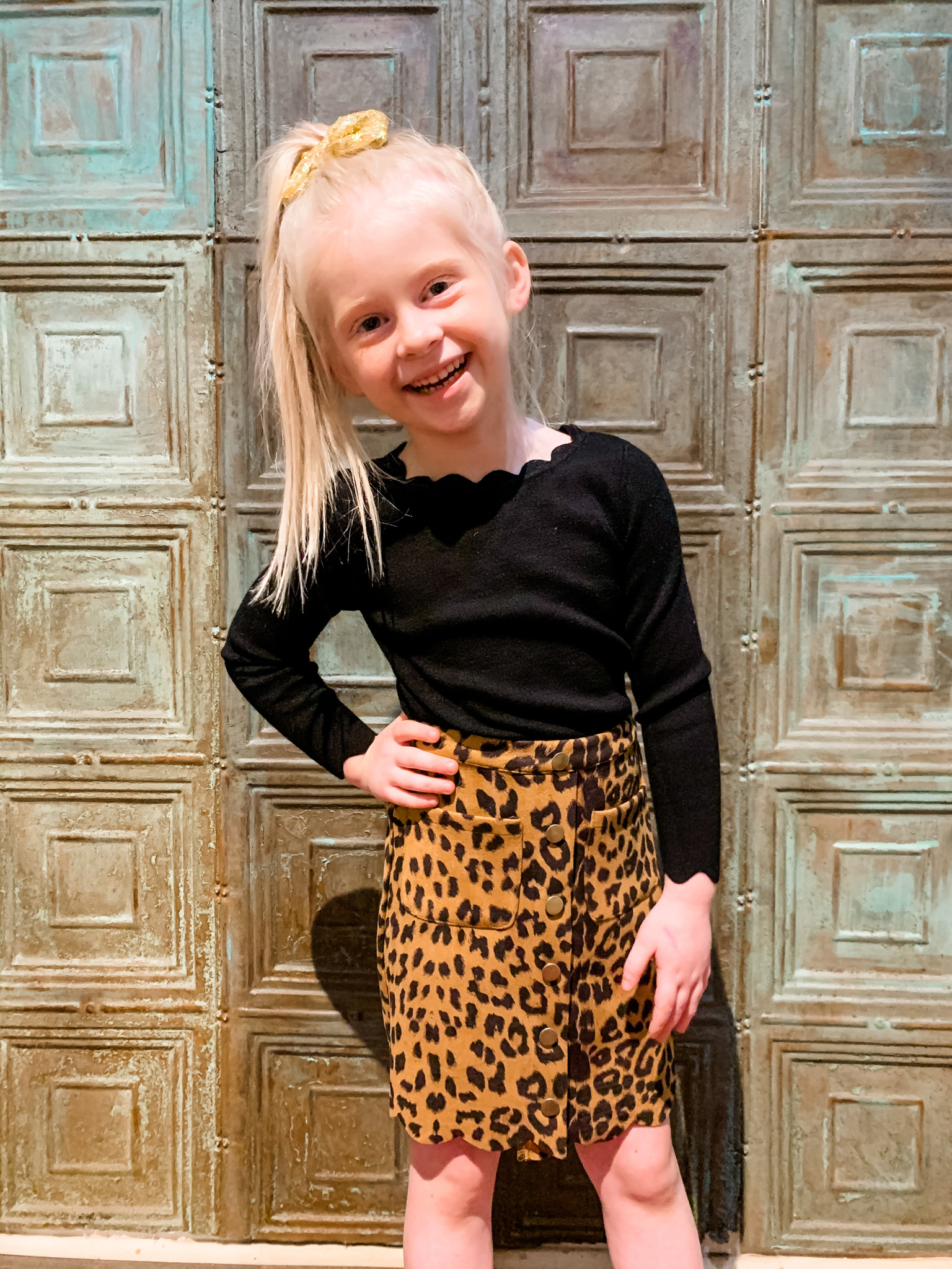 Work It Out With Haddie Mac Leopard Scallop Tween Skirt
