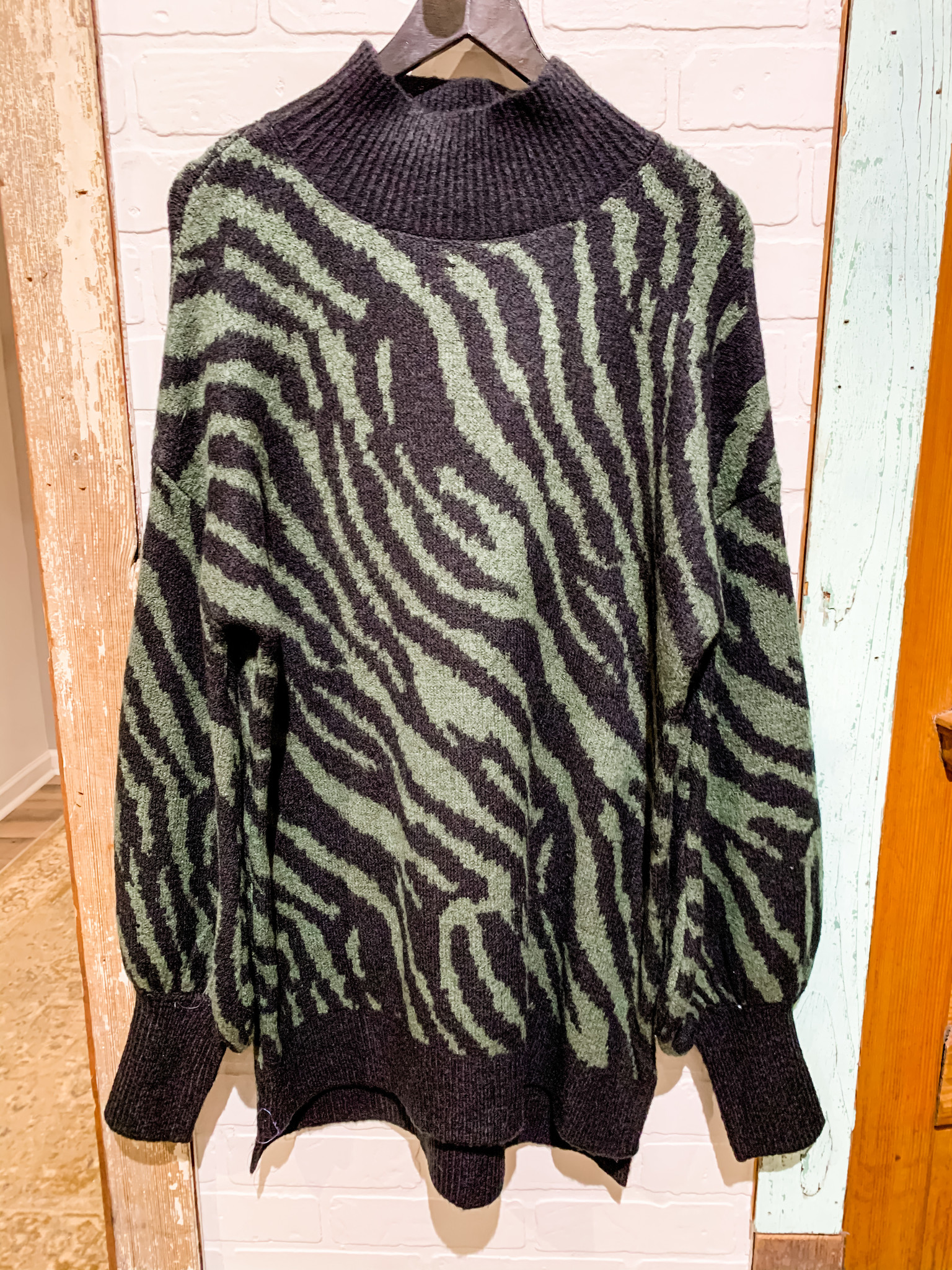 Envy Label Zebra Stripes Sweater