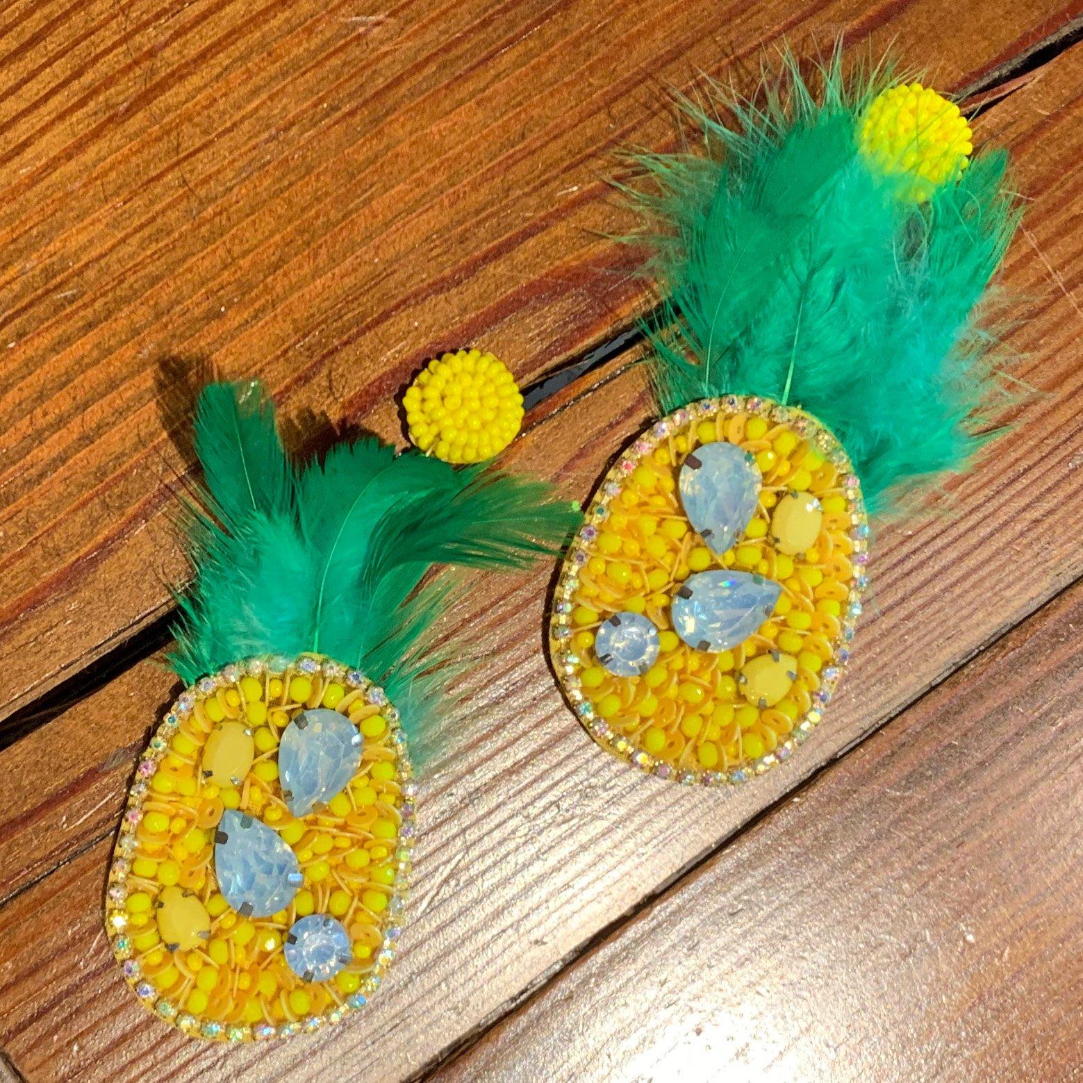 Envy Label Upside Down Pineapple Beaded Earring
