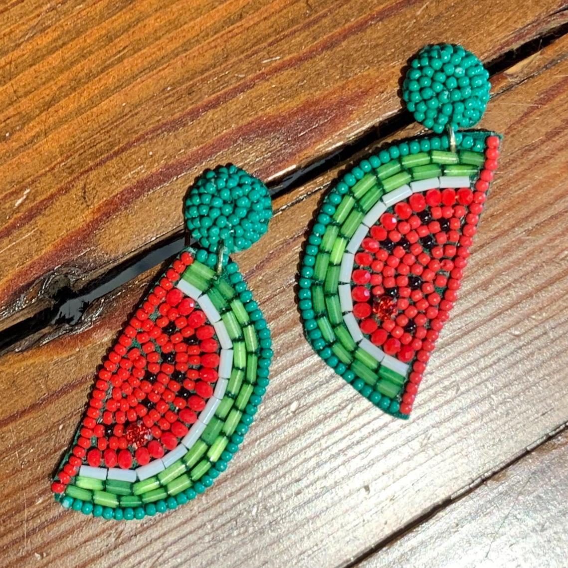 Envy Label Watermelon Beaded Earring