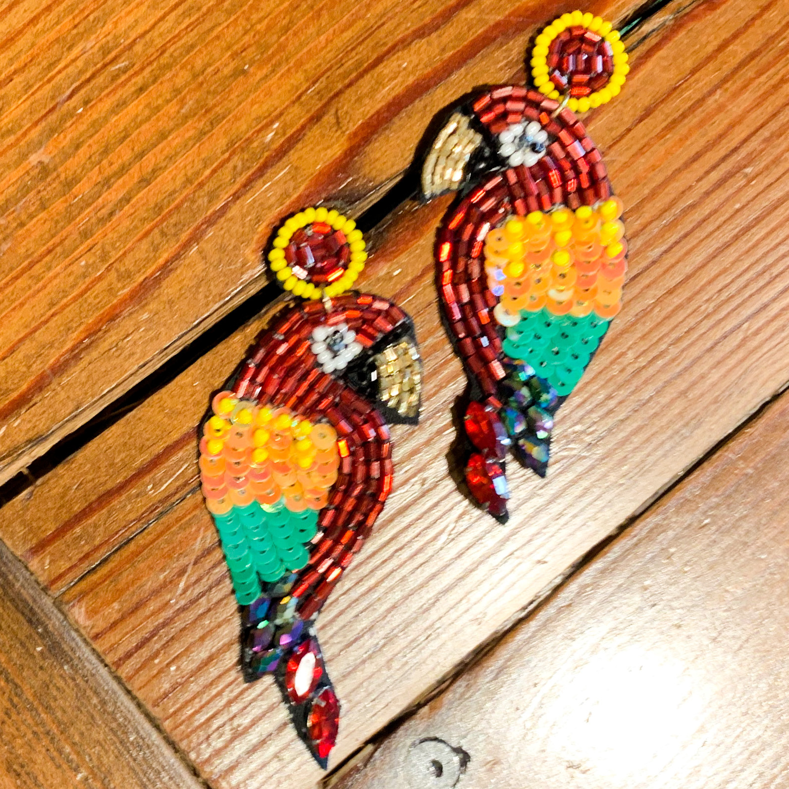 Envy Label Parrot Beaded Earring