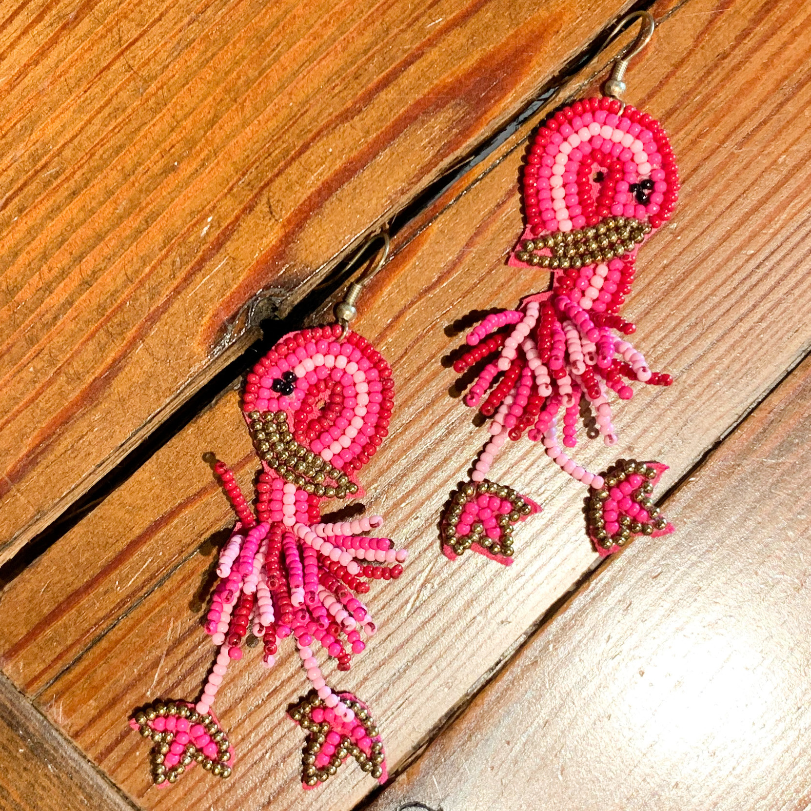 Envy Label Flamingo Beaded Earring