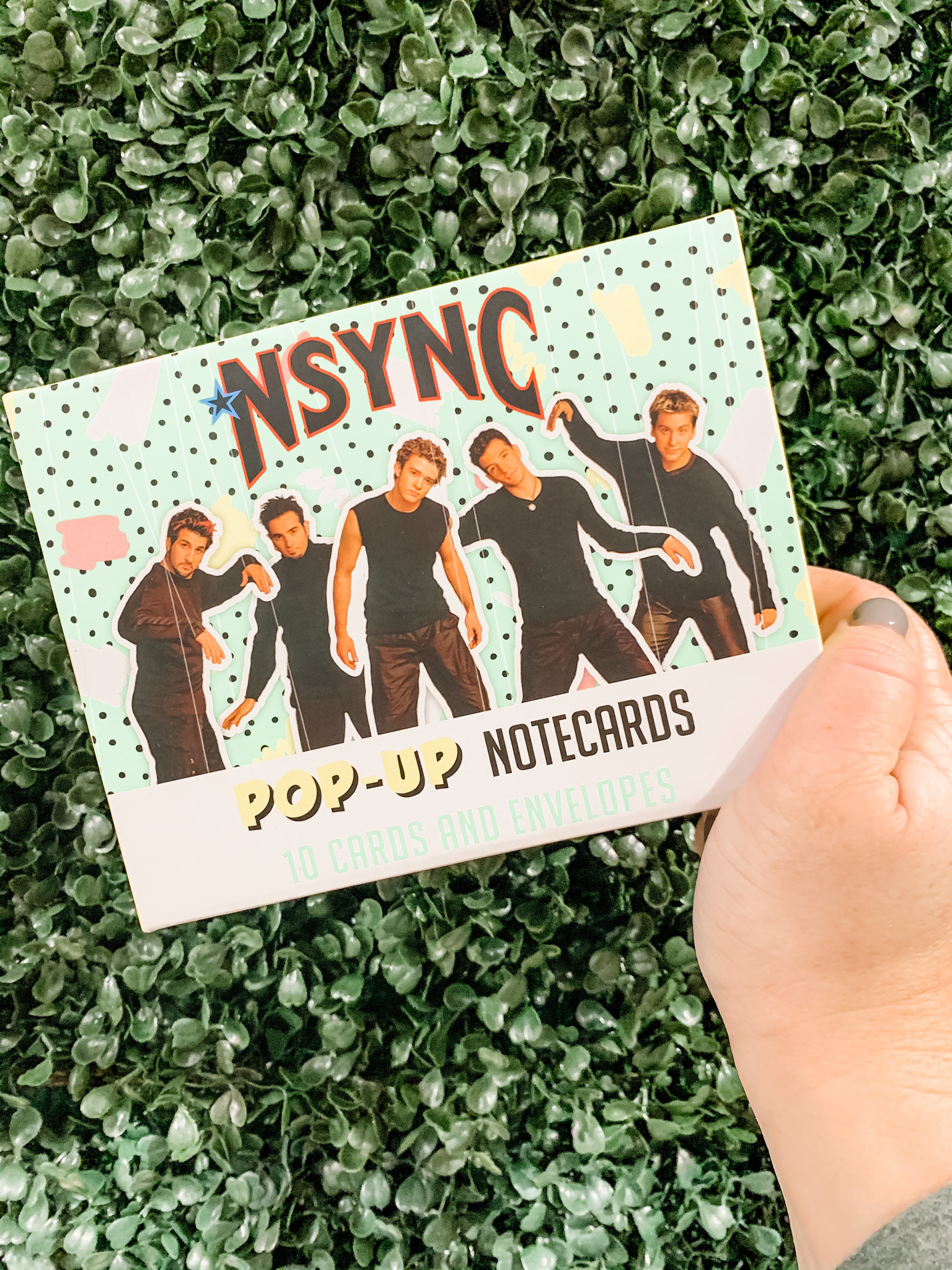 Hachette N*Sync pop up notecards