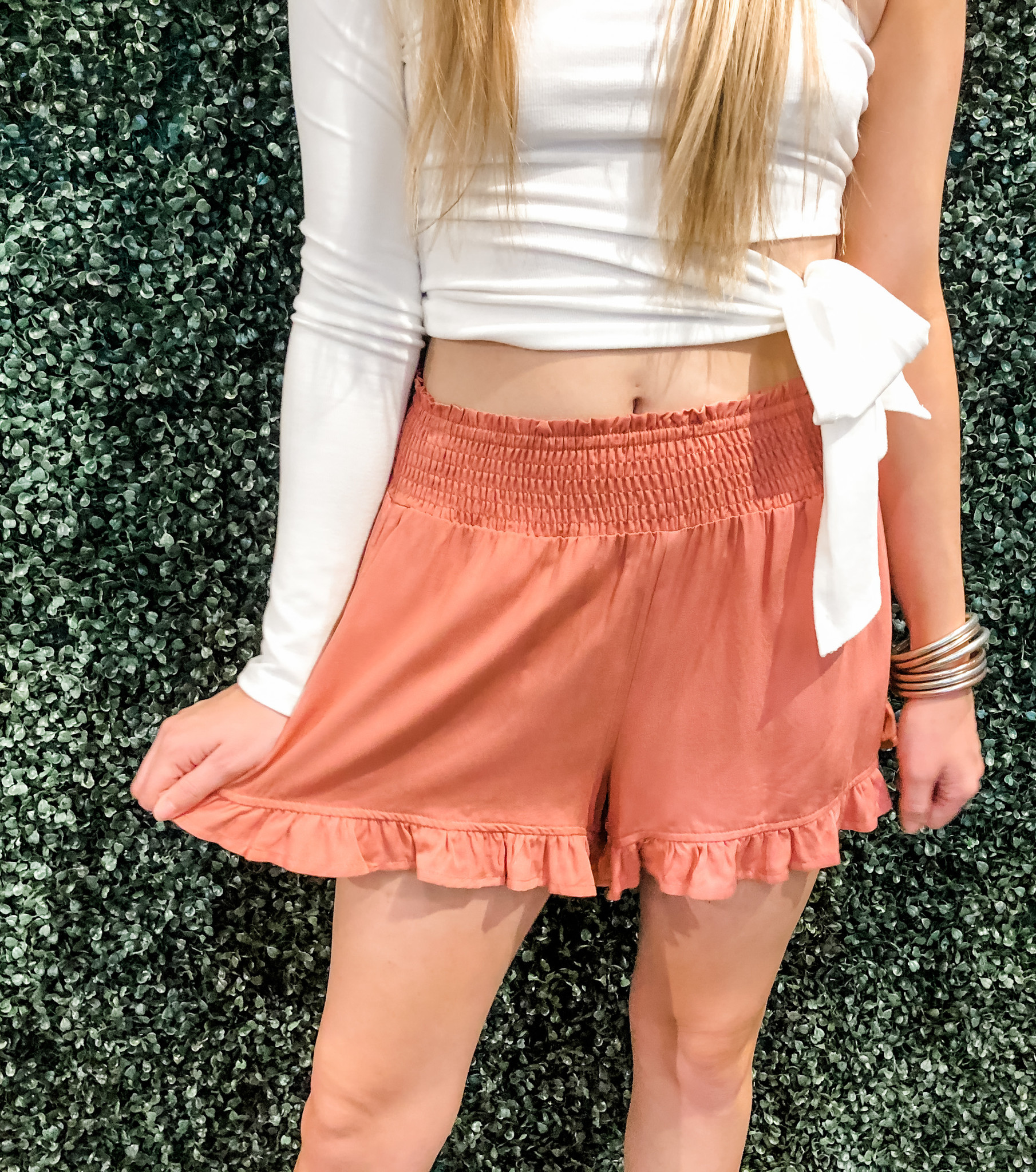 Wanderlust Girly Ruffle Shorts