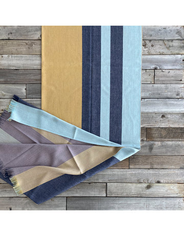 Columbine Home Indigo Gold Throw
