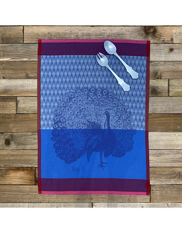Columbine Home Dishtowel & Salad Server Set, Planche Paon Azure • Sky