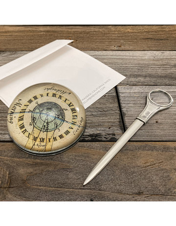 Columbine Home Earth Orbit Paperweight & Letter Opener Set