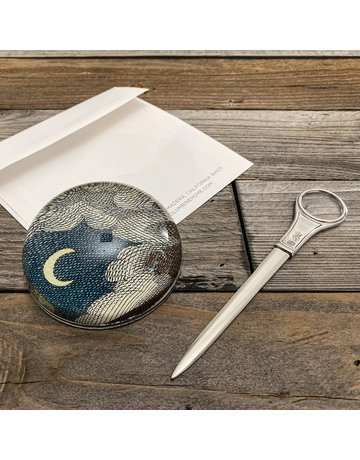 Columbine Home Cloud & Moon Paperweight & Letter Opener Set