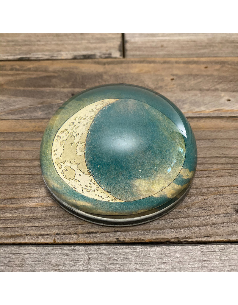 Columbine Home Blue Crescent Moon Paperweight & Letter Opener Set