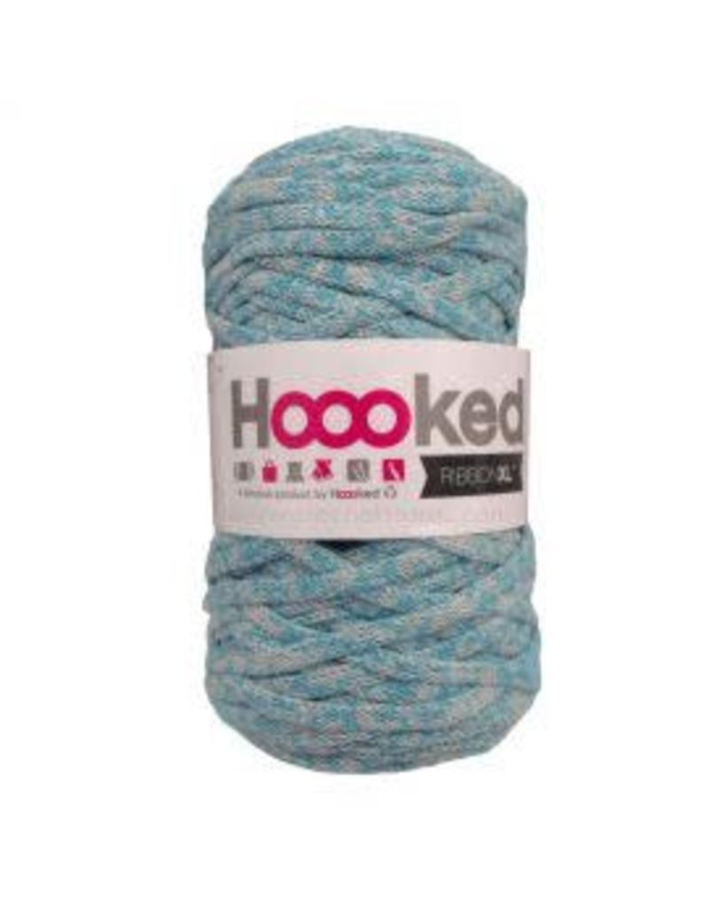 Hoooked RibbonXL 120M Cotton Yarn Knitting Crochet  Powder Blue