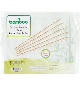 "Knitters Pride KP Bamboo Double Point 6"" (15cm) - Set of 7 (900525)"
