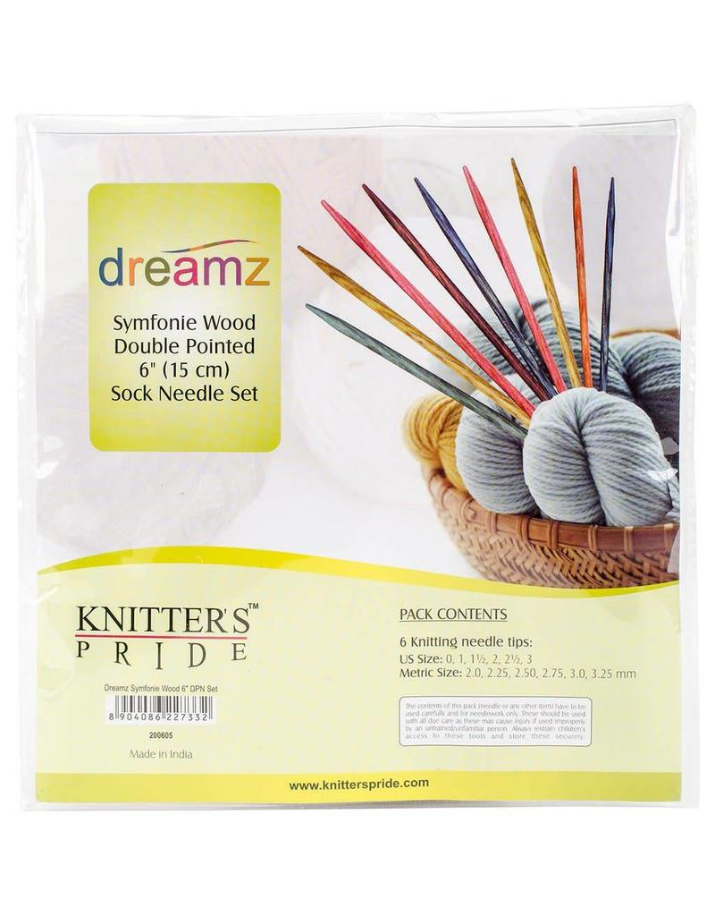 "Knitters Pride KP Dreamz Double Point 6"" (15cm) - Set of 6"