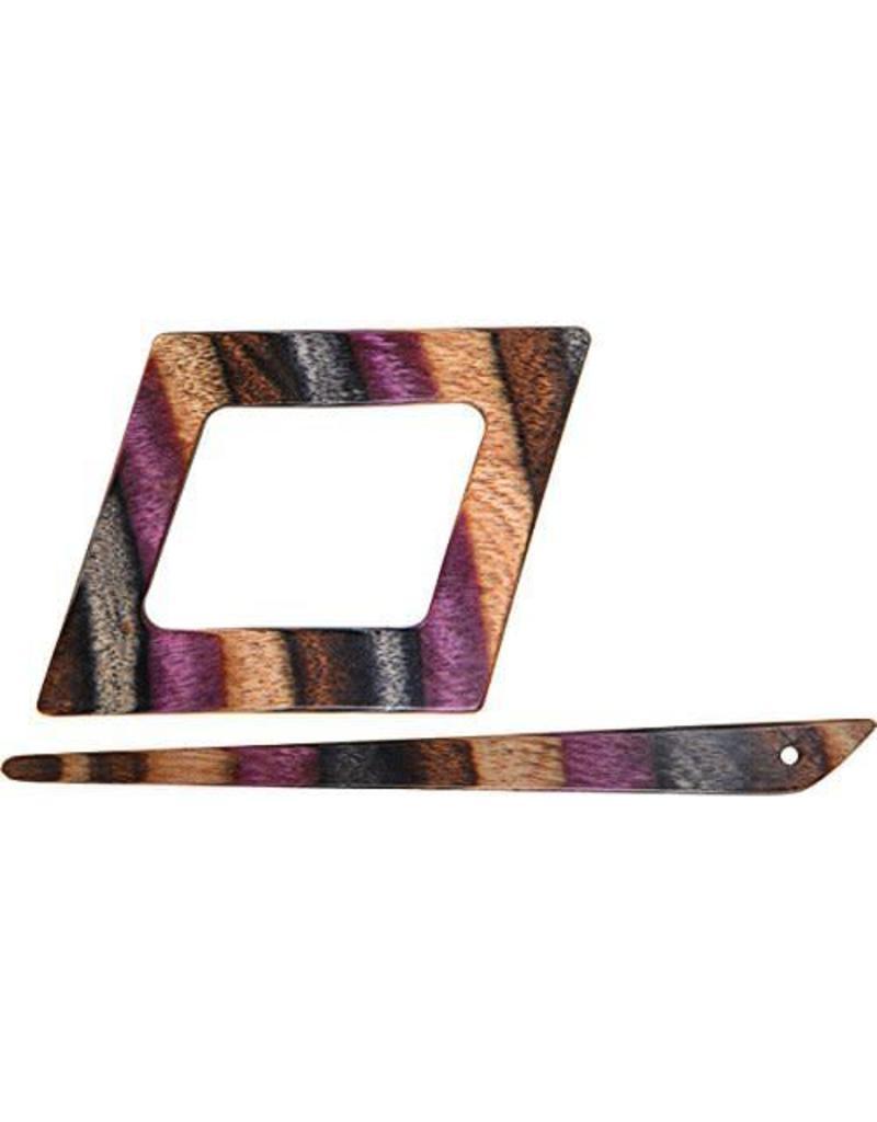 Knitters Pride KP Lilac Shawl Pin (Symfonie Wood)