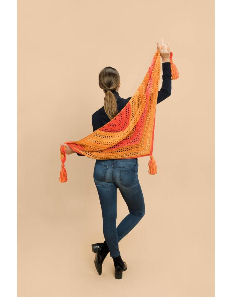Master Knit PATTERN COLORE TASSEL SHAWL