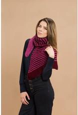 Master Knit Striped Wrap Scarf, Mar by Master Knit