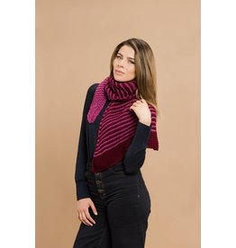 Master Knit Striped Wrap Scarf, Mar by Master Knit