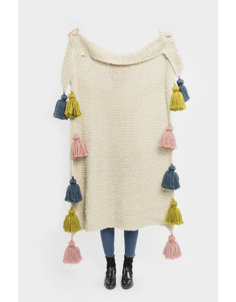 Frida Blanket with Tassels, Frida by Master Knit