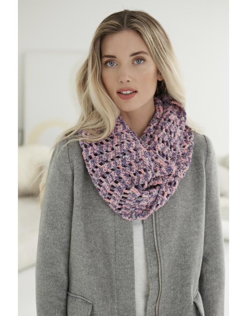 Lion Brand PATTERN Comfy Cotton Blend Cowl