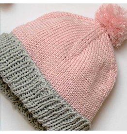 Hoooked Pom Pom Baby Hat, Eucalyps by Hoooked