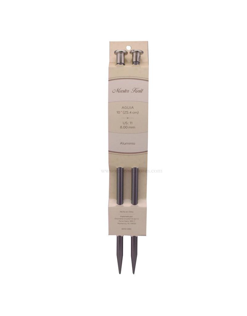 """Master Knit MK Aluminum Needle 10"""" (25cm)"""
