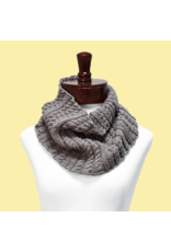 Mondial Italy Pattern Cabled Cowl, Cashmirette Gold