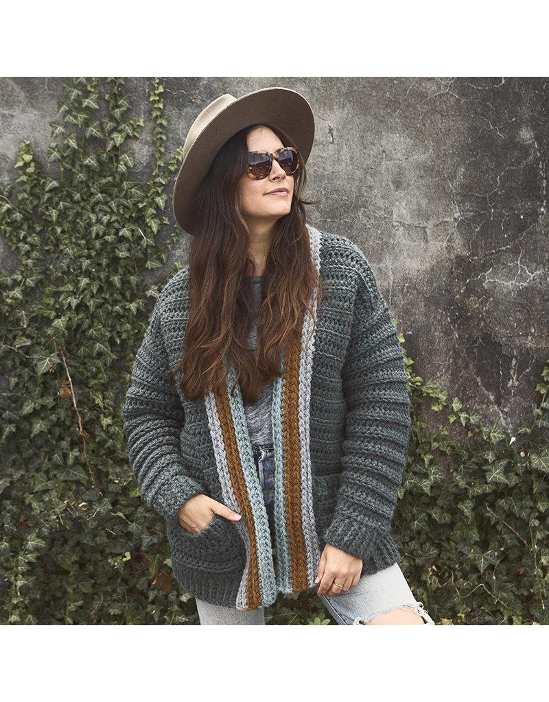Lion Brand Mountaintop Cardigan, Crochet