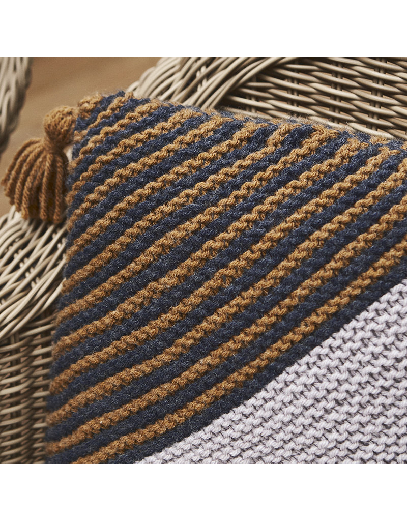 Lion Brand On the Bias Throw Pillow, Knit