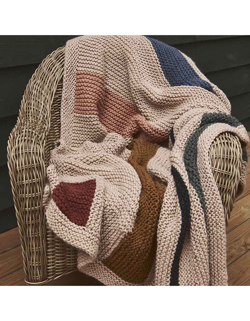 Lion Brand Rockwell Blanket, Knit