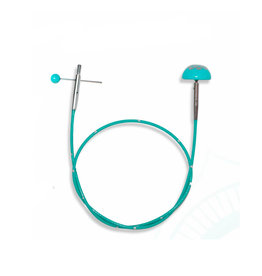 "Knitters Pride KP Teal Fixed cord - 49"" (125 cm to make 150 cm / 60"" ) 800616"
