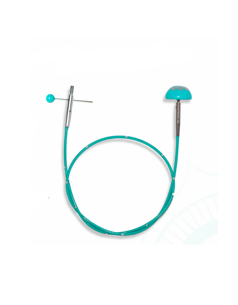 """Knitters Pride KP Teal Fixed cord - 14"""" (35 cm to make 60 cm / 24"""" ) 800612"""