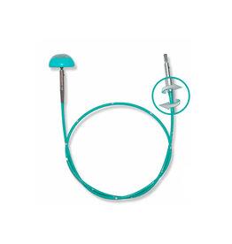 "Knitters Pride KP Teal Swivel cord - 30"" (76 cm to make 100 cm / 40"" ) 800605"