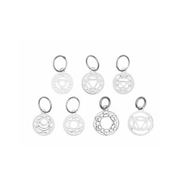 Knitters Pride KP Sterling Silver Plated Chakra Stitch Markers 800653