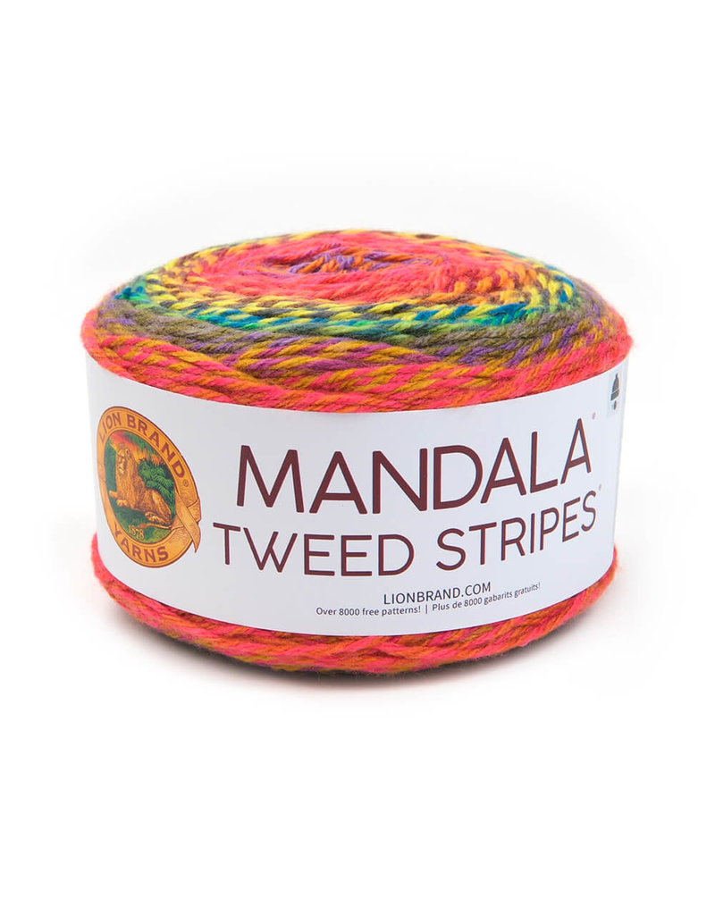 Lion Brand LB Mandala Tweed Stripes