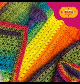 Lion Brand Granny Stripe Stitch Blanket, Crochet