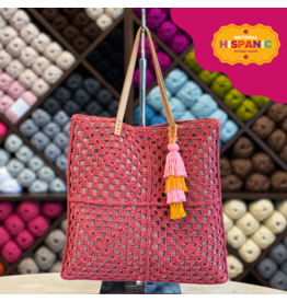 Lion Brand Granny Square Bag, Crochet