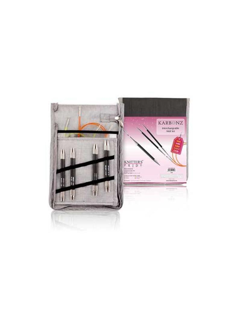 Knitters Pride KP Karbonz Midi Set (Normal IC) - Set of 4 - Free Shipping