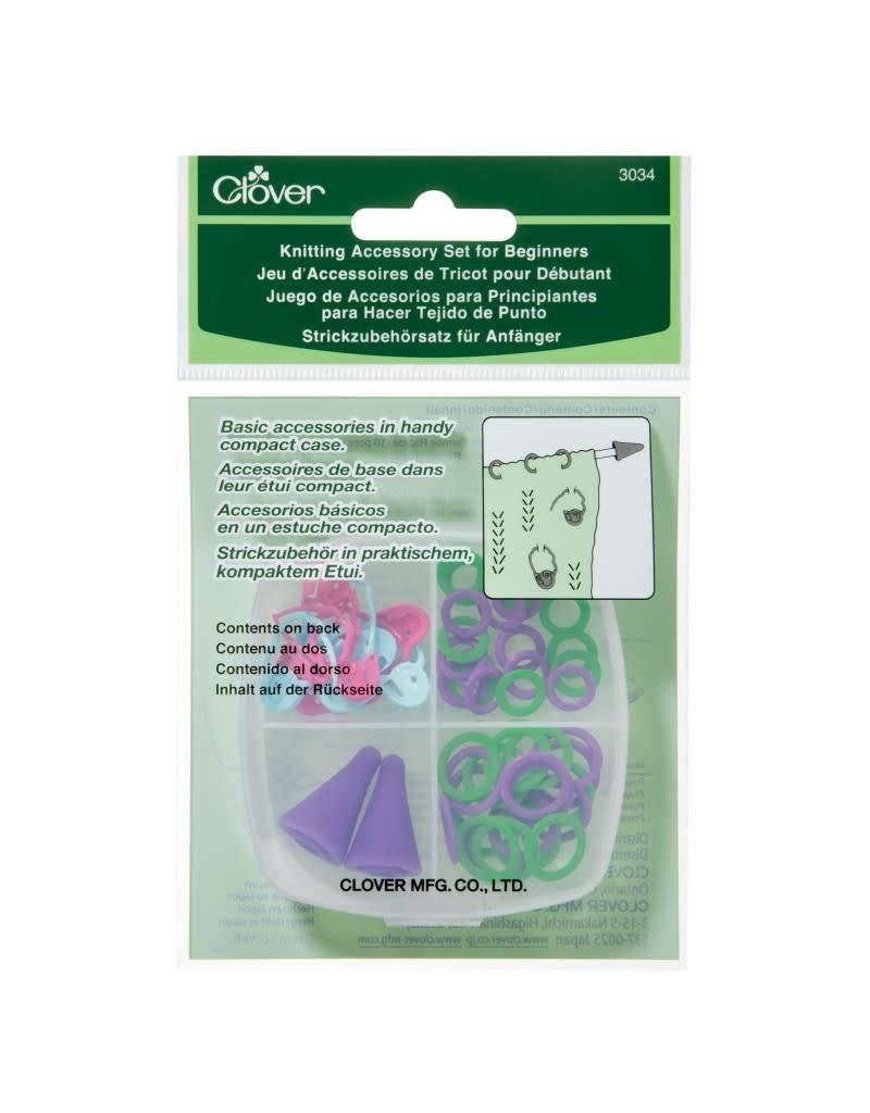 Clover CLO Knitting Accs Set Beginners