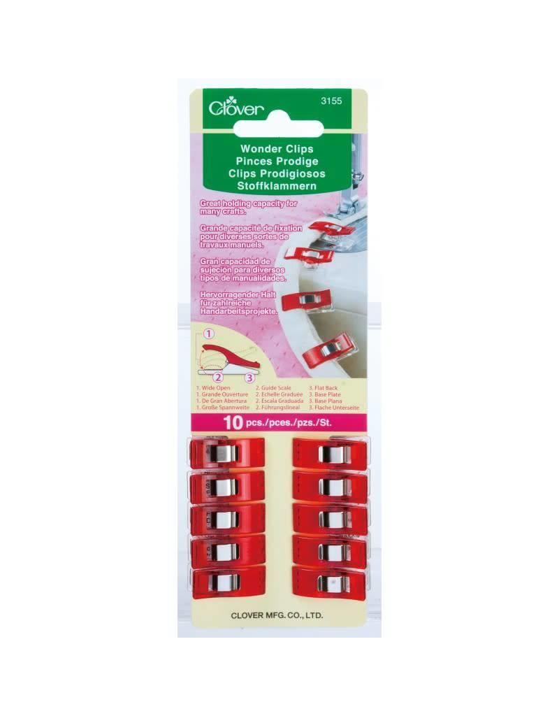 Clover CLO Wonder Clips - Red 10P