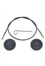 "Knitters Pride KP Black cord - 49"" (125 cm to make 150 cm/ 60"") 800106"
