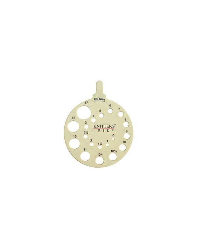 Knitters Pride KP Needle Gauge - Round - Ivy 800221