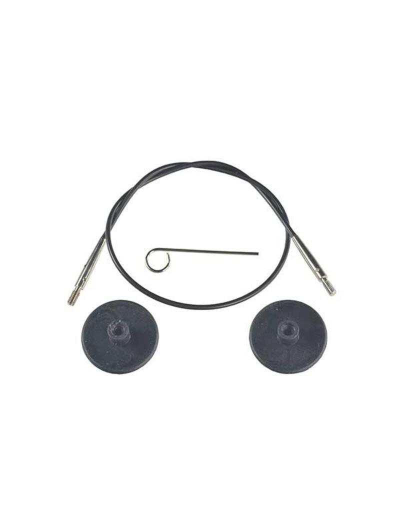 "Knitters Pride KP Black cord - 11"" (28 cm to make 50 cm/ 20"") 800201"