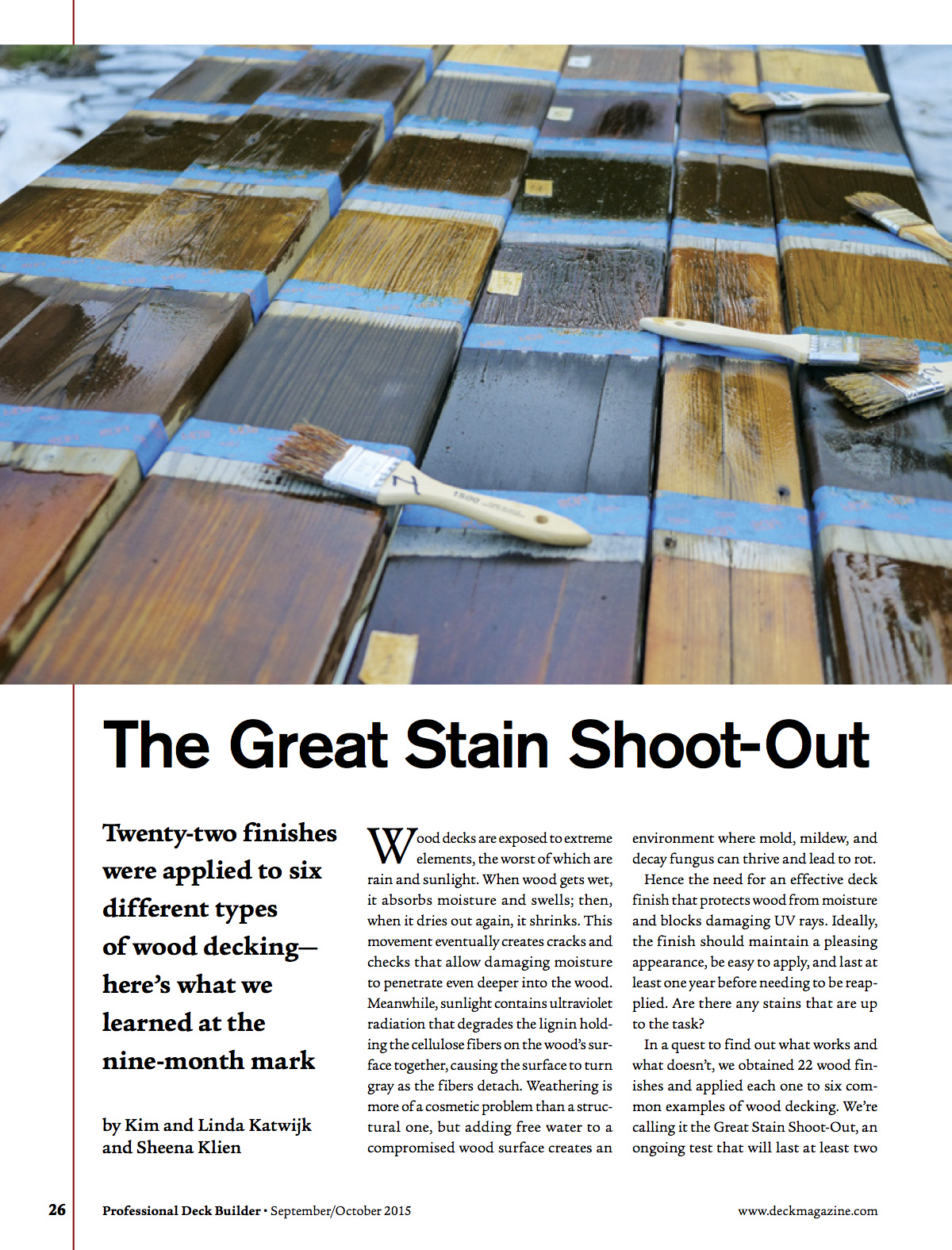 Blog The Great Stain Shoot Out Casa Verde Paint