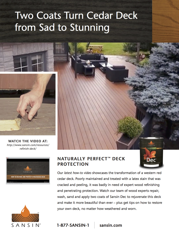 Blog Refinishing A Western Red Cedar Deck Casa Verde Paint