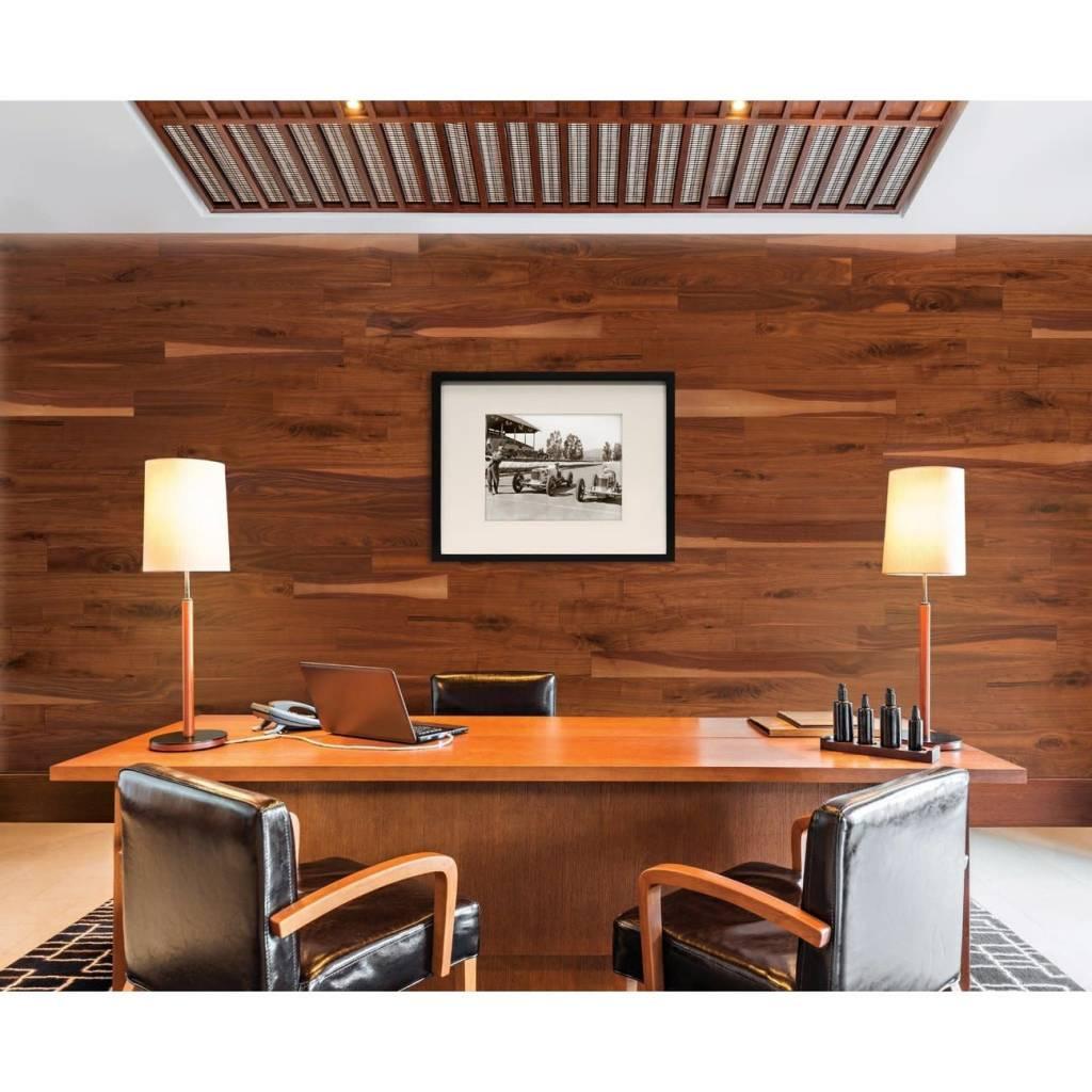 Wallplanks Natural Walnut Shiplap Wood Wallcovering