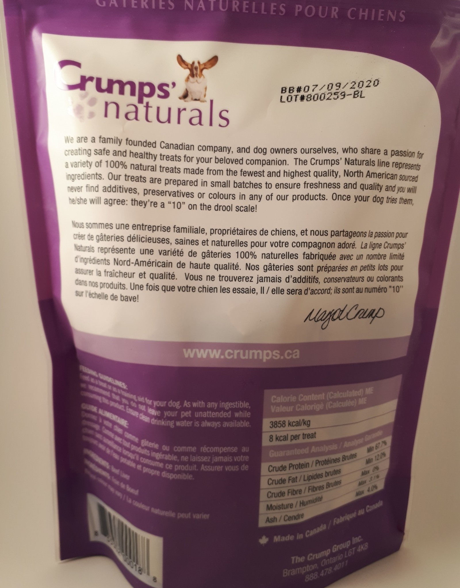 Crumps Natural Crumps Beef Liver Bites 135g