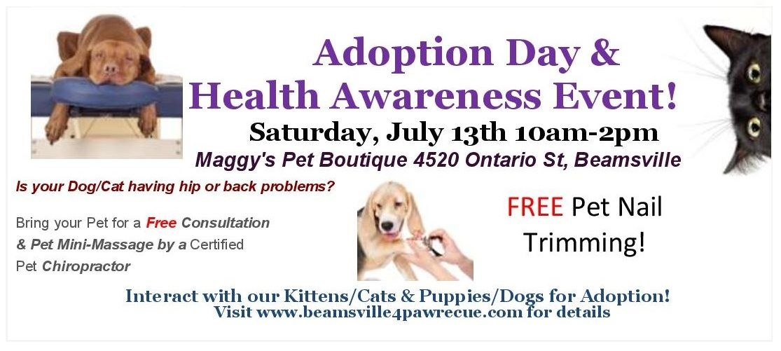 Beamsville 4 Paw Rescue is coming to Maggy's