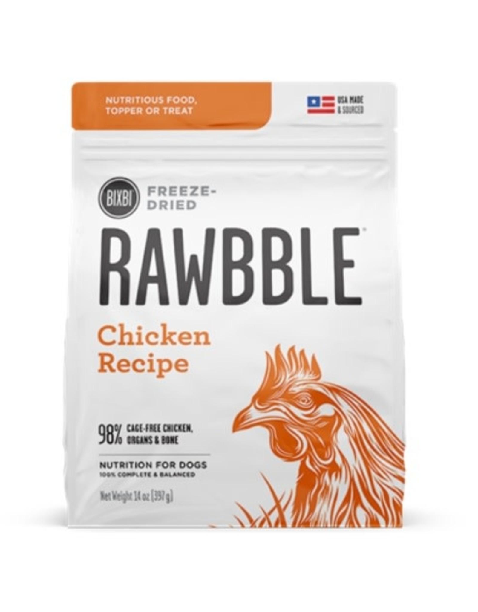 Bixbi Pet Rawbble Freeze Dried chicken 12oz